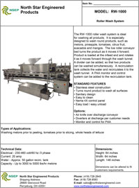 Roller Washer Equipment